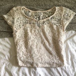 Lacey Embroidered Crop Top!